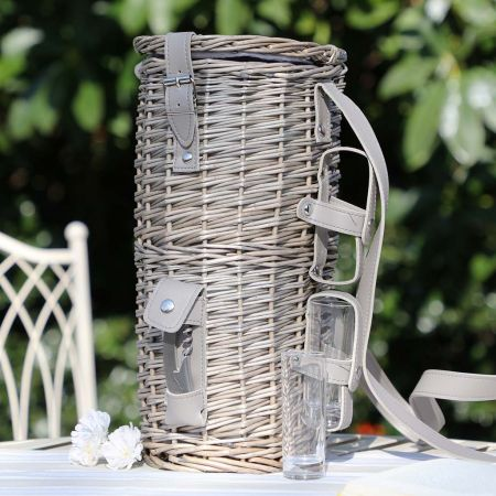 Picnic Cooler Basket for Champagne