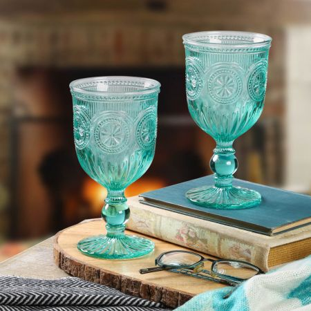 Pair of Two Decorative Glasses