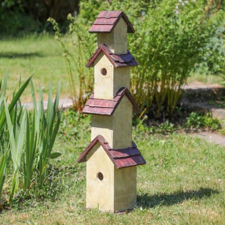 Woodland Lodge Tall Freestanding Bird House