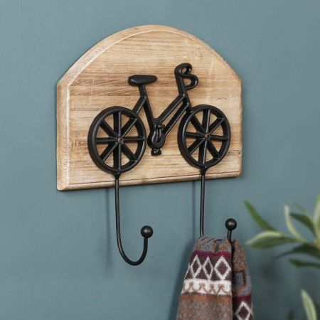 Wall Mounted Bicycle Double Hook Board