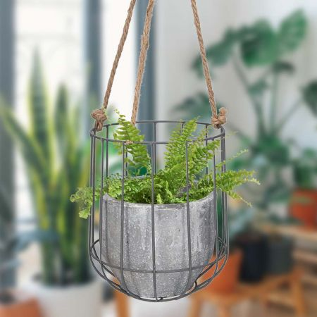 Hanging Basket Concrete Planter