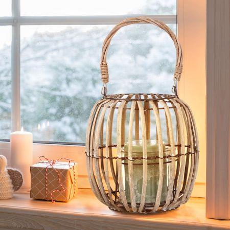 Wicker Alfresco Candle Lantern