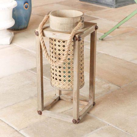 Wooden Outdoor Garden Table Lantern