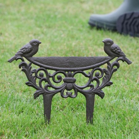 Decorative Love Birds Cast Iron Shoe Wiper
