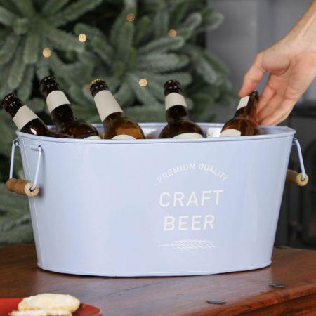 Soft Pastel Blue Craft Beer Chill Bath