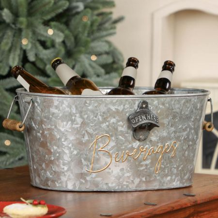 Galvanised Metal Beverage Bucket