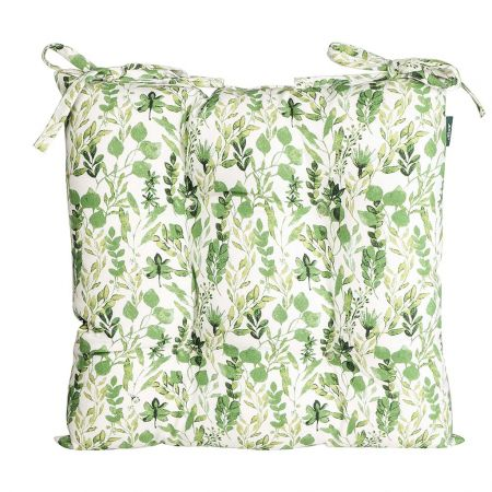Set of 2 Meadowbrook Organic Cotton Seat Pads with Ties