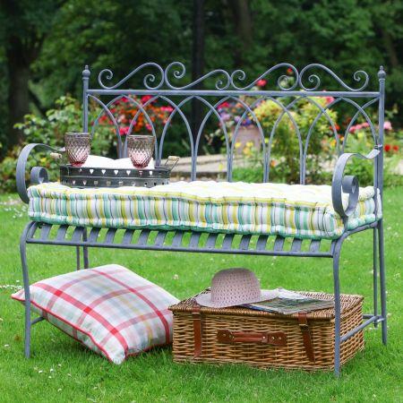 Vintage Grey Garden Bench