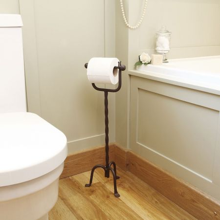 cast iron toilet roll holder stand