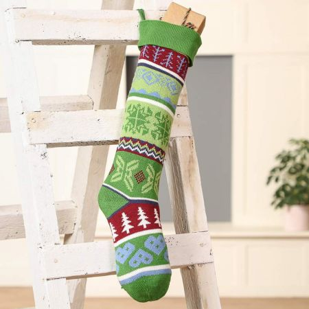 Traditional Forest Christmas Stocking