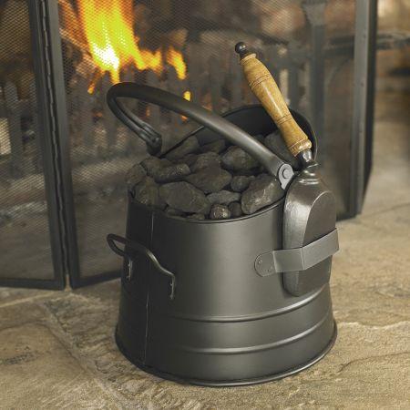 Stylish Modern Coal Bucket and Shovel Set
