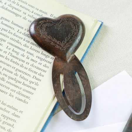 Iron Heart Page Clip Bookmark