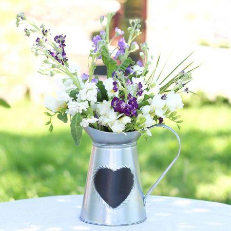 Heart Chalkboard Vase