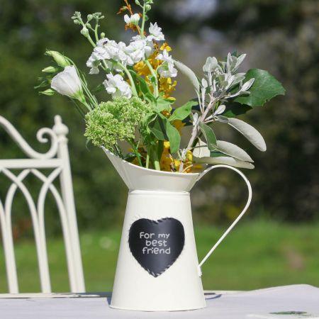 Cream jug with chalkboard