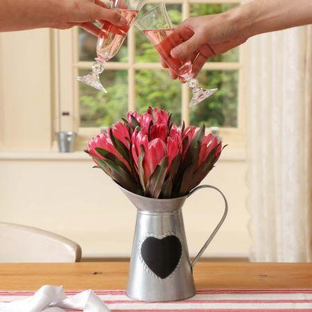 Love Heart Milk Pitcher Vase