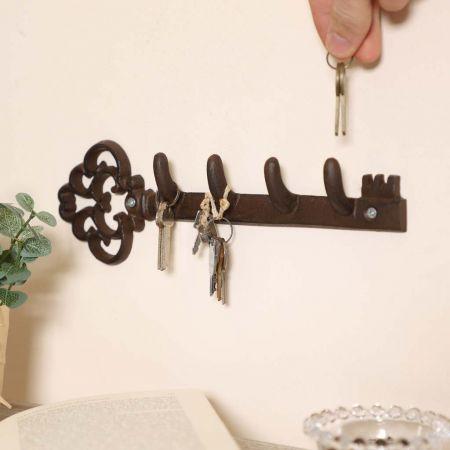 Cast Iron Key Shaped Key Hook
