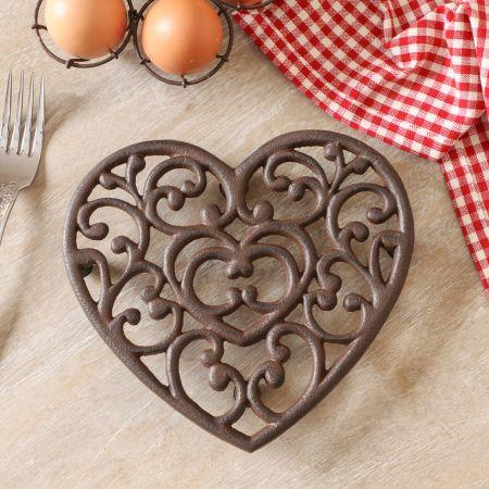 Heart Shaped Cast Iron Pan Holder