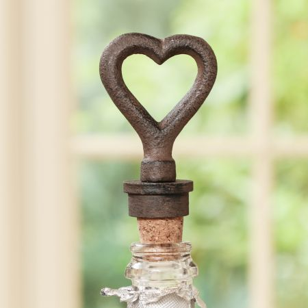 Cast Iron Heart Bottle Stopper