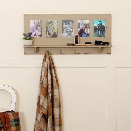 Photo Frame Coat Hook Rack