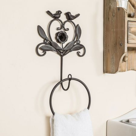 Antique french country towel ring