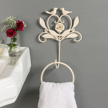 Heart and Birds Ivory Towel Ring