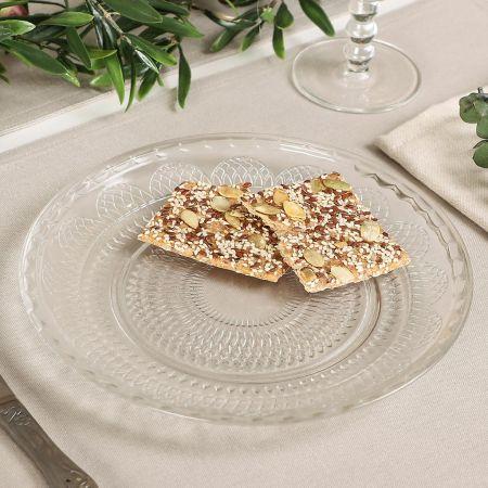 Set of 4 Parisian Glass Dinner Plates