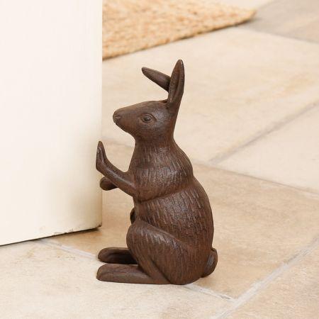 Vintage Cast Iron Hare Door Stop