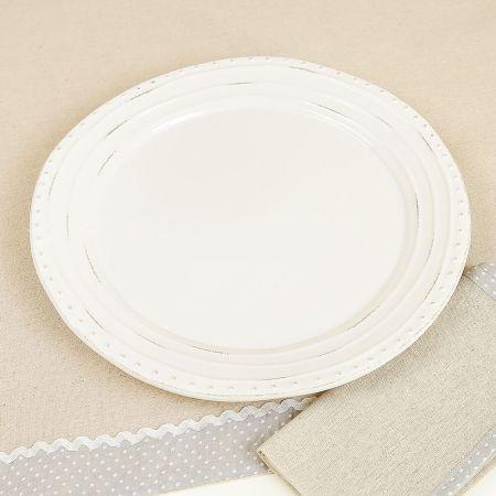 Farmhouse ripple dinner plate