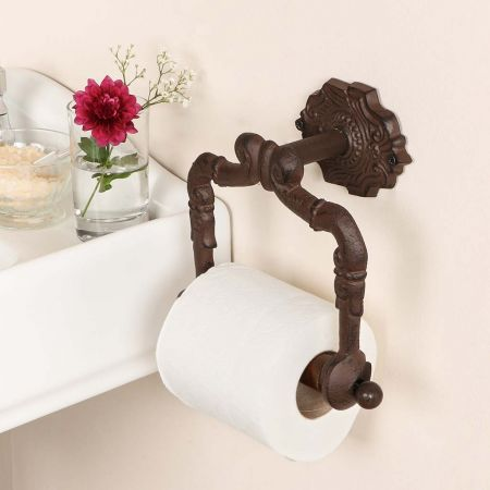Period Cast Iron Toilet Roll Holder