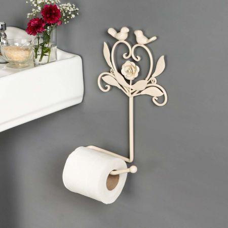 cream toilet roll holder