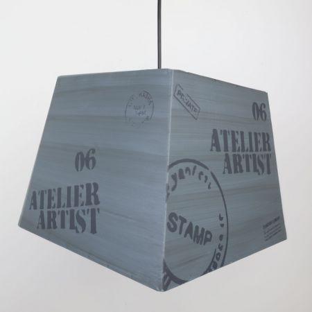 Vintage Parisian Metal Pendant Light