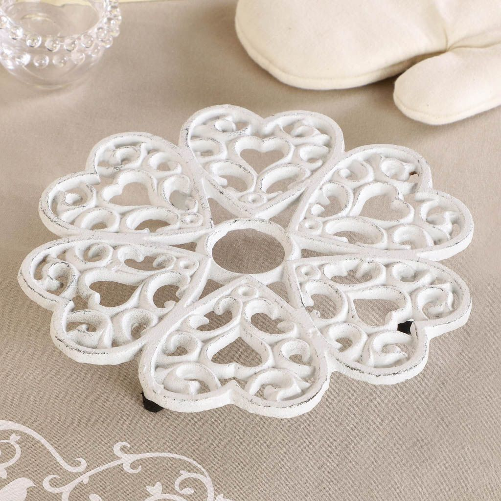 White Cast Iron Trivet For Home Cooking