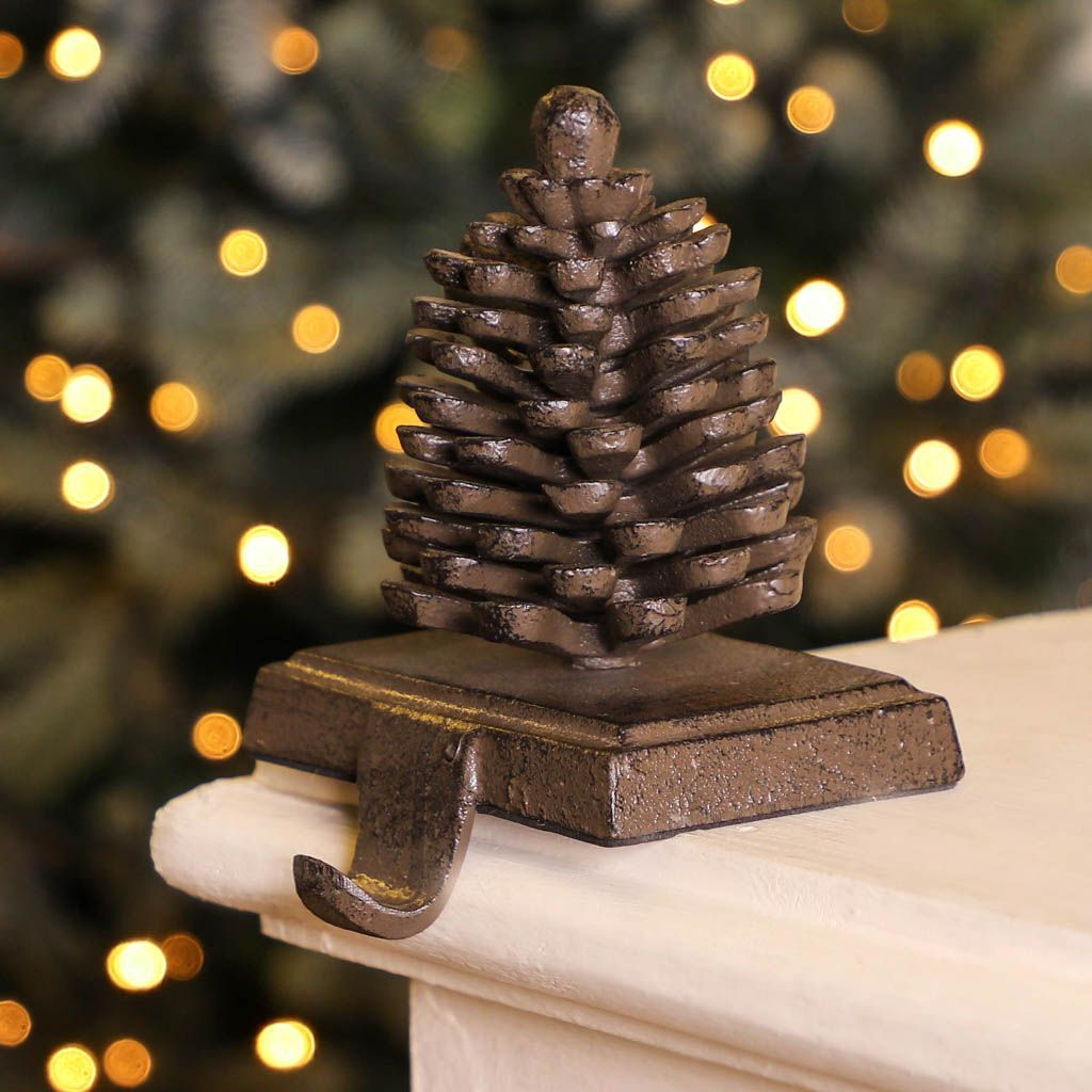 Pine Cone Christmas Stocking Holder