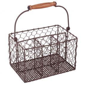 Farmhouse Chicken Wire Cutlery Caddy