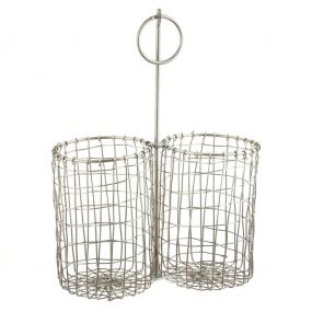 Silver Woven Wire Kitchen Caddy