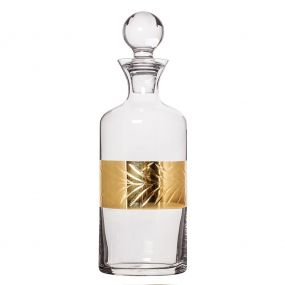 Gold Leaf Glass Decanter