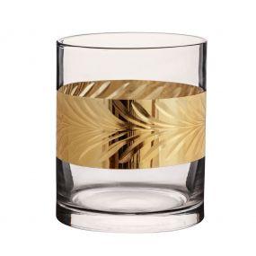 Gold Leaf Whiskey Tumbler
