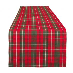 Highland Red Tartan Table Runner