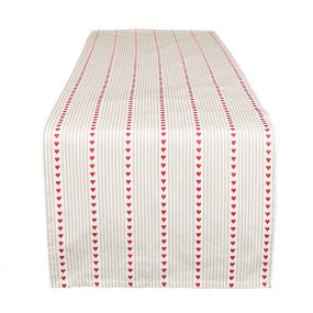French Country Red Heart Table Runner