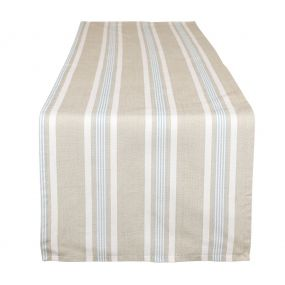 Millstone Blue Stripe Fabric Table Runner