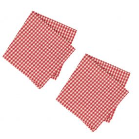 Set of 2 Red Gingham Napkins
