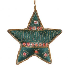 Green Star Hanging Christmas Decoration