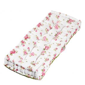Helmsley Blush Floral Print Vintage Bench Cushion