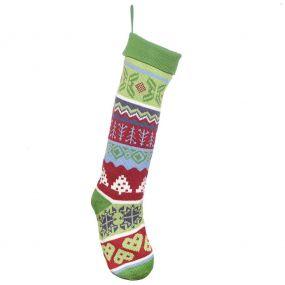 Traditional Woodland Christmas Stocking