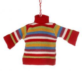 Striped Jumper Christmas Tree Decoration