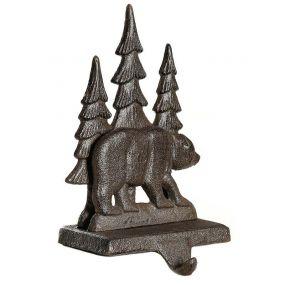 Cast Iron Bear Christmas Stocking Holder