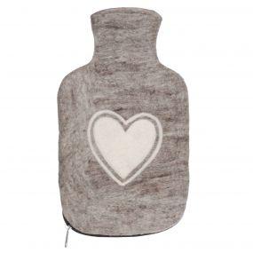 Fair Trade Heart Hot Water Bottle Cover