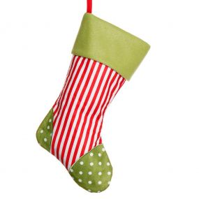 Red Candy Stripes Christmas Stocking