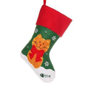 Christmas Cat Pet Stocking