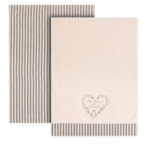 Set of 2 La Maison Bonheur Tea Towels